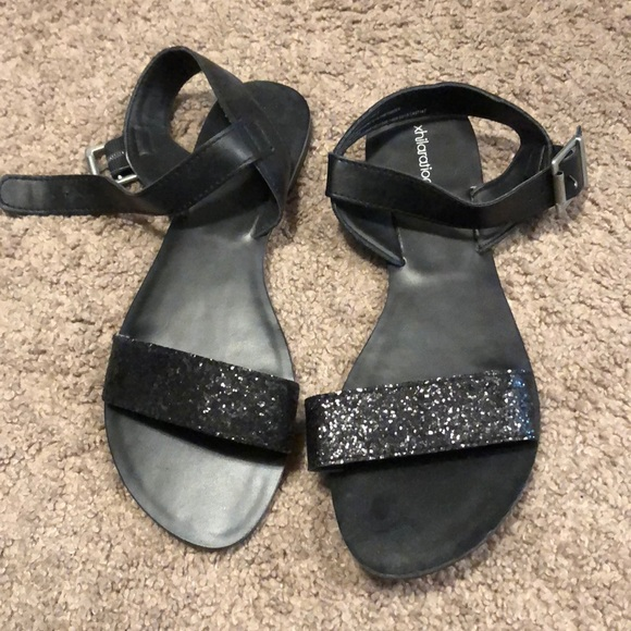 Xhilaration Shoes | Black Sparkly